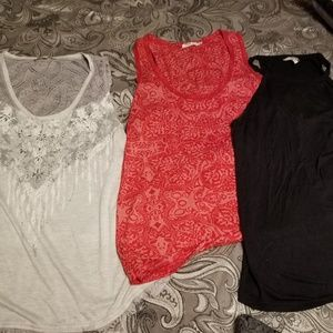 Tanks size L..Miss me, Silver and BKE